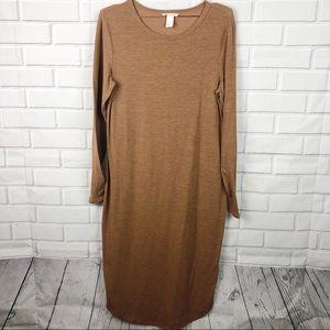 H&M   knit midi dress fall